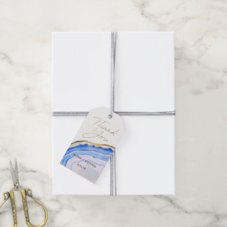 Blaue Achat-Bevorzugungs-Umbauten Geschenkanhänger