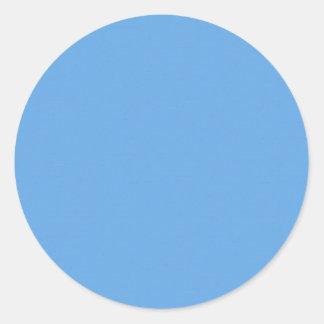Blaue Acrylschablone der beschaffenheits-DIY Runder Aufkleber
