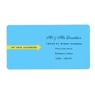 Blaue Adressen-Etiketten
