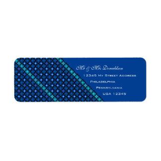 Blaue Adressen-Etiketten Rücksende Aufkleber