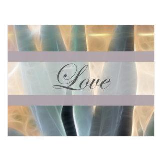 Blaue Agave 1 Glühen-Liebe Wedding Postkarte