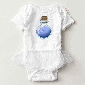 Blaue Alchimie-Flasche Baby Strampler