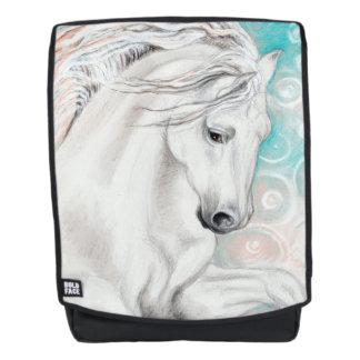 Blaue andalusische Pferde Rucksack