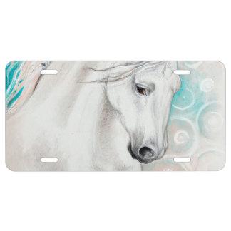 Blaue andalusische Pferde US Nummernschild