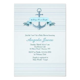Blaue Anker-Fahnen-Einladung 12,7 X 17,8 Cm Einladungskarte