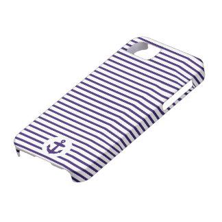 Blaue Anker-und Marine-Blau-Seemann-Streifen iPhone 5 Hülle