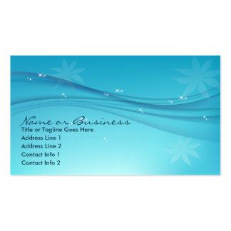blaue Anmut Visitenkartenvorlage