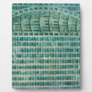 blaue aquamarine Fliesen Fotoplatte