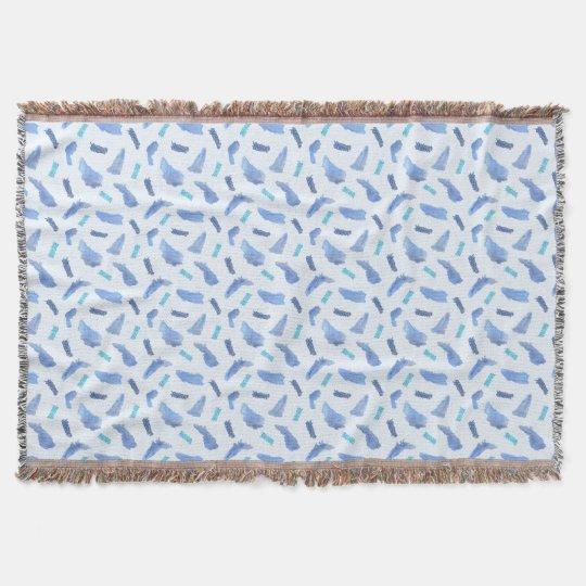 Blaue Aquarell-Stellen-Wurfs-Decke Decke