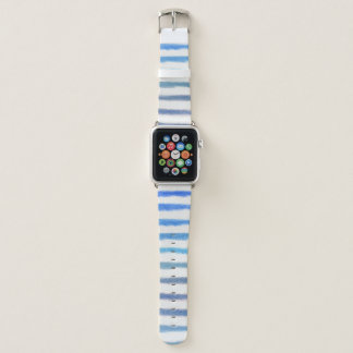 Blaue Aquarell-Streifen Apple Watch Armband