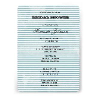 Blaue Aquarell-Streifen Individuelle Einladungskarten