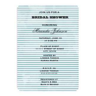 Blaue Aquarell-Streifen 12,7 X 17,8 Cm Einladungskarte