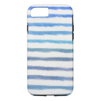 Blaue Aquarell-Streifen iPhone 8/7 Hülle