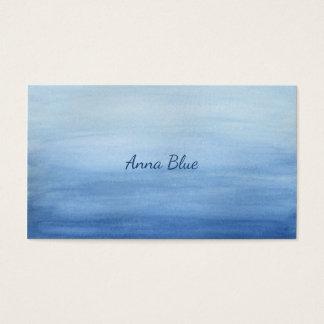 Blaue Aquarell-Wäsche-Steigung Ombre Schatten des Visitenkarte