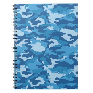 Blaue Armee-MilitärCamouflage-Tarnungs-Gewebe Notizblock