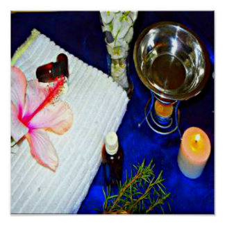 blaue Aromatherapydruckentlastungs-Wellness-Center Poster