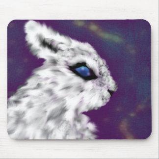 Blaue Augen (Häschen) Mousepads