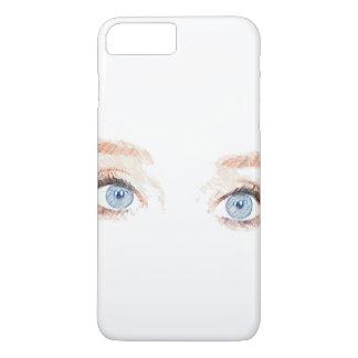 Blaue Augen iPhone 8 Plus/7 Plus Hülle