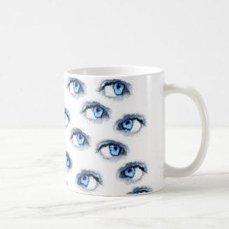 blaue Augen Kaffeetasse