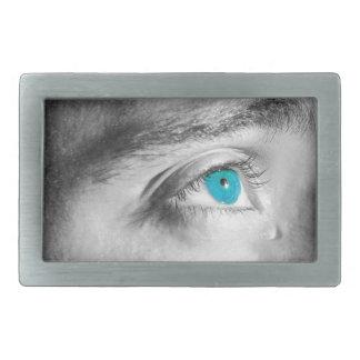 Blaue Augen Rechteckige Gürtelschnalle