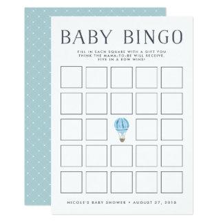 Blaue Babyparty-Bingo-Spiel-Karte des Karte