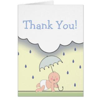 Blaue Babyparty danken Ihnen zu kardieren Karten