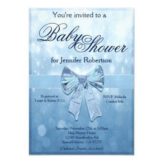 Blaue Babyparty 12,7 X 17,8 Cm Einladungskarte