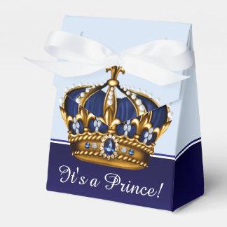 Blaue Babyparty Goldkronprinz-Junge Geschenkkartons