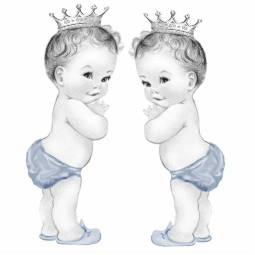 Blaue Babyparty Prinz-Twin Boy Foto Ausschnitt