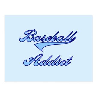 Blaue Baseball-Süchtig-T - Shirts und Geschenke Postkarte