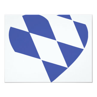 blaue bayerische Herzikone 10,8 X 14 Cm Einladungskarte
