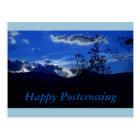 Blaue BergPostcrossing Postkarte