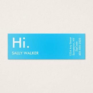 Blaue berufliche moderne Minigeschäftskarten Mini Visitenkarte