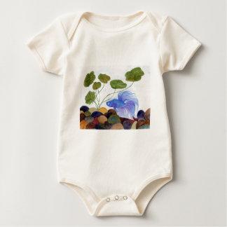 Blaue Betta Fische Baby Strampler