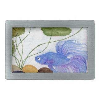 Blaue Betta Fische Rechteckige Gürtelschnalle