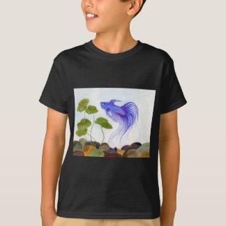 Blaue Betta Fische T-Shirt