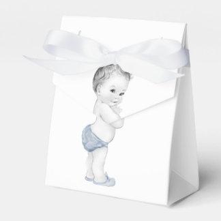 Blaue Bevorzugungs-Kästen Prinz-Babyparty Geschenkschachtel