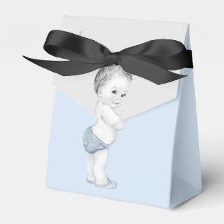 Blaue Bevorzugungs-Kästen Prinz-Babyparty