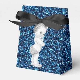 Blaue Bevorzugungs-Kästen Prinz-Babyparty Geschenkkartons