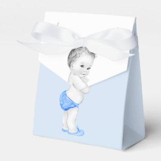 Blaue Bevorzugungs-Kästen Prinz-Babyparty Geschenkschachteln