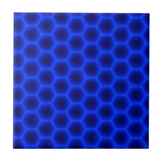 Blaue Bienenwabe 3D Fliese