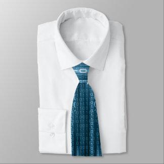Blaue binäre Regen-Krawatte Krawatte