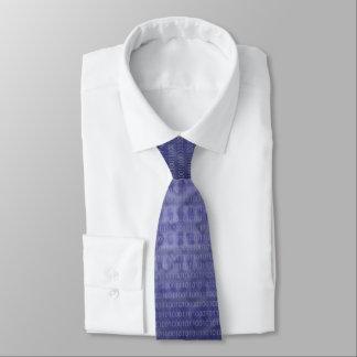 Blaue binärer Code-Krawatte Bedruckte Krawatten