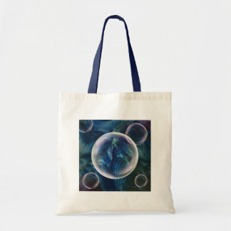 Blaue Blasen-Taschen-Tasche Tragetasche