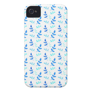 Blaue Blätter - Blue Leaves iPhone 4 Cover