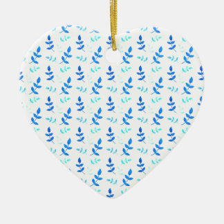 Blaue Blätter - Blue Leaves Keramik Ornament