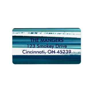 blaue blaue Adressen-Etiketten Adressaufkleber