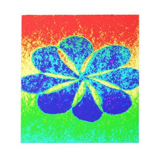 blaue Blume Notizblock