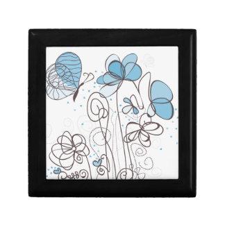 Blaue Blume Schmuckschachtel
