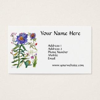 Blaue Blume Visitenkarte